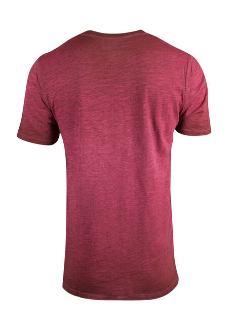 Men's Vintage Crew Neck Tee, BURGUNDY, hi-res
