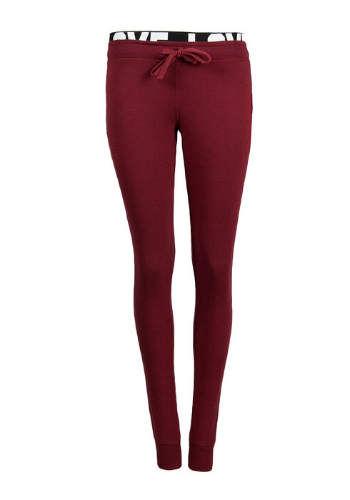Ladies' Love Jogger, BURGUNDY, hi-res