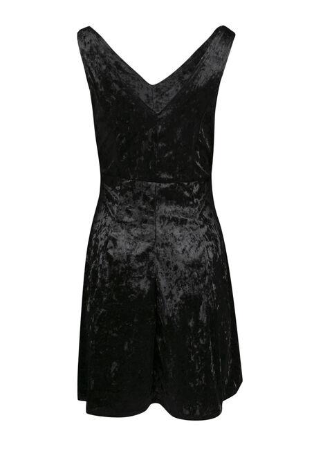 Ladies' Fit and Flare Dress, BLACK, hi-res
