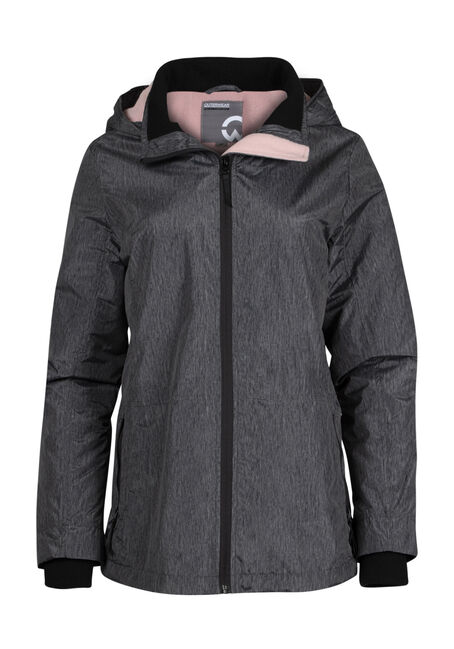 Ladies' Plush Lined Hooded Jacket