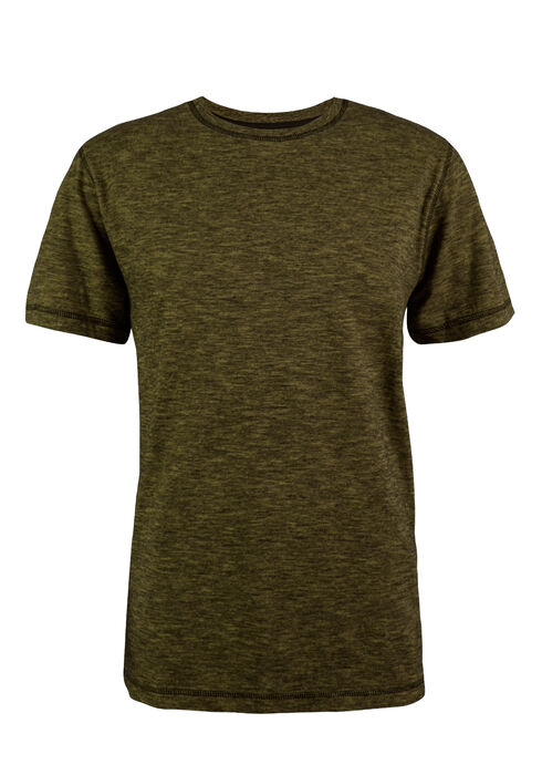 Men's Crew Neck 2 Tone Tee, GREEN, hi-res