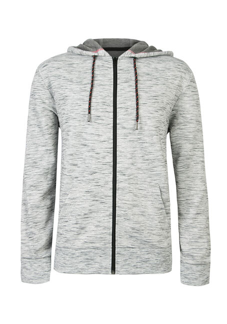 Men's Textured Hoodie, WHITE, hi-res