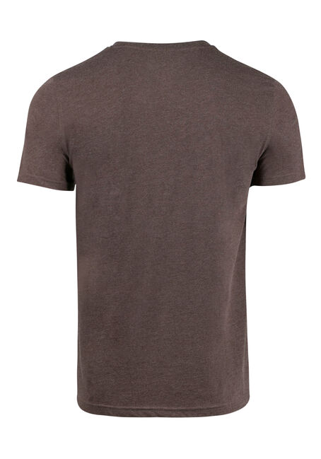 Men's Everyday V-neck Tee, Brown, hi-res