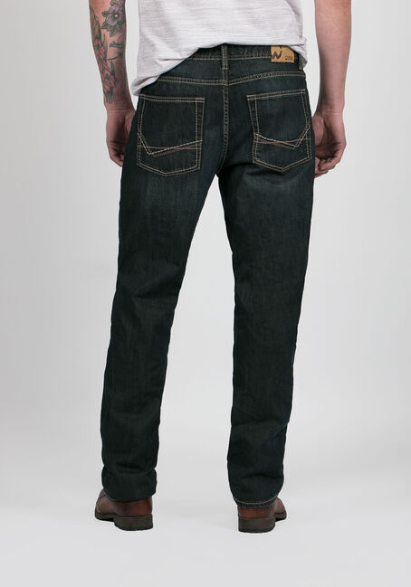 Men's Relaxed Straight Jeans, DARK WASH, hi-res
