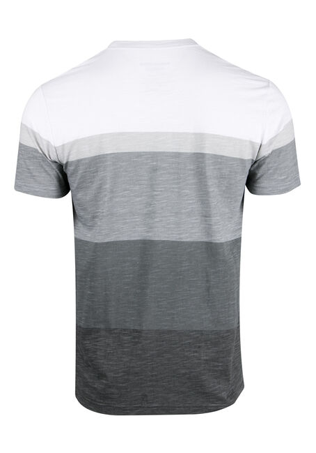 Men's Everyday Stripe Tee, CHARCOAL, hi-res