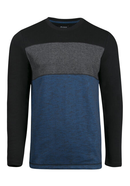 Men's Colour Block Rib Knit Top