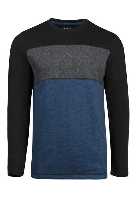 Men's Colour Block Rib Knit Top
