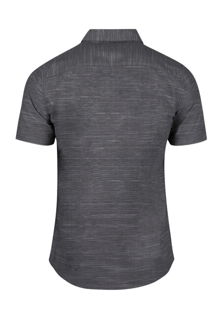 Men's Space Dye Shirt, CHARCOAL, hi-res