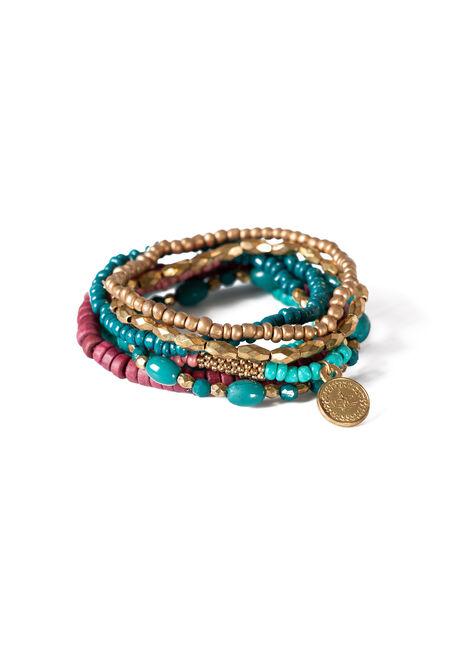 Ladies' 7 Pair Stretch Bracelet Set