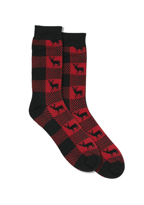 Men's Cabin Crew Sock, RED, hi-res