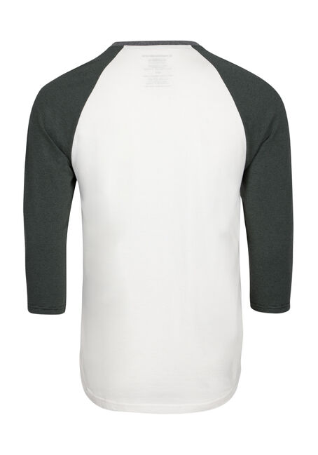 Men's Everyday Henley Baseball Tee, FIR, hi-res