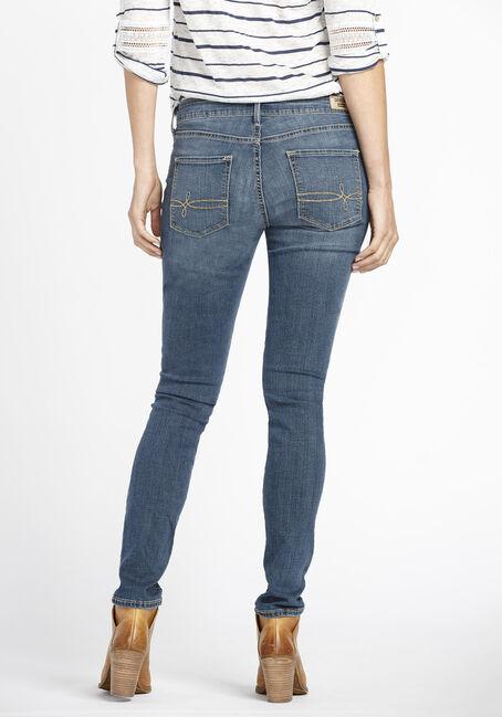Ladies' Skinny Jeans, MEDIUM VINTAGE WASH, hi-res