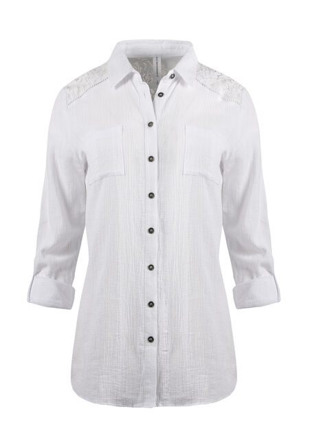 Ladies' Gauze Roll Sleeve Shirt