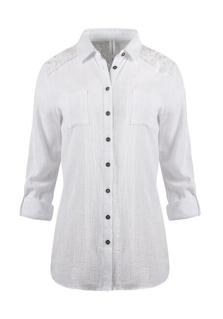 Ladies' Gauze Roll Sleeve Shirt
