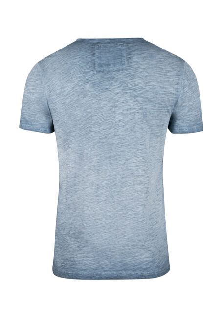 Men's Vintage Split V-neck Tee, BLUE STEEL, hi-res