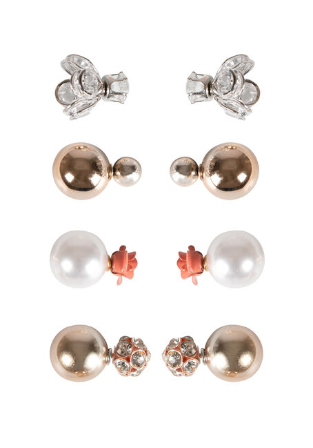 Ladies' 4 Pair Earring Set