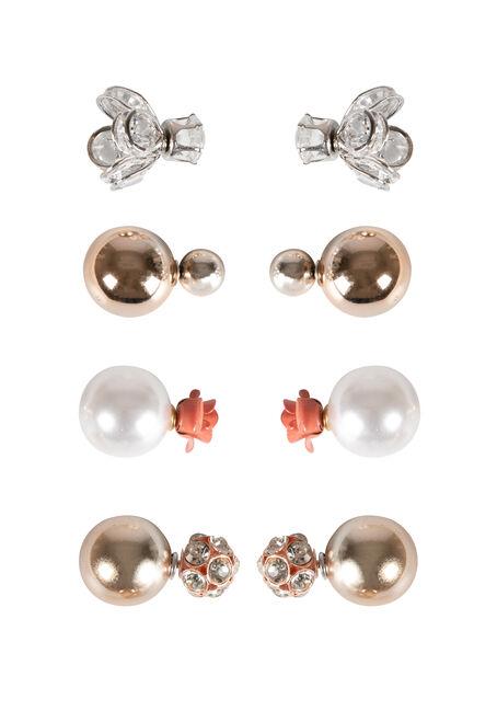 Ladies' 4 Pair Earring Set
