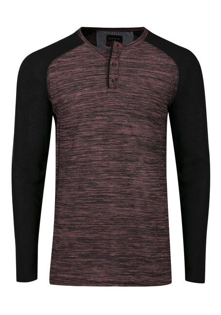 Men's Baseball Henley Tee