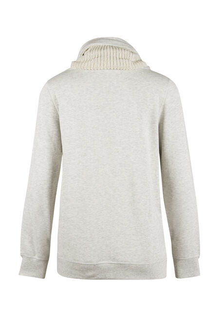 Ladies' Sweater Insert Popover, OATMEAL, hi-res