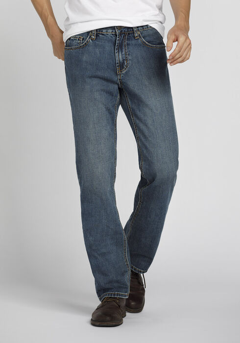 Men's Straight Leg Jeans, MEDIUM VINTAGE WASH, hi-res