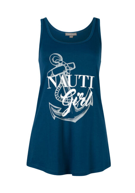 Ladies' Nauti Girl Tank, MIRAGE BLUE, hi-res