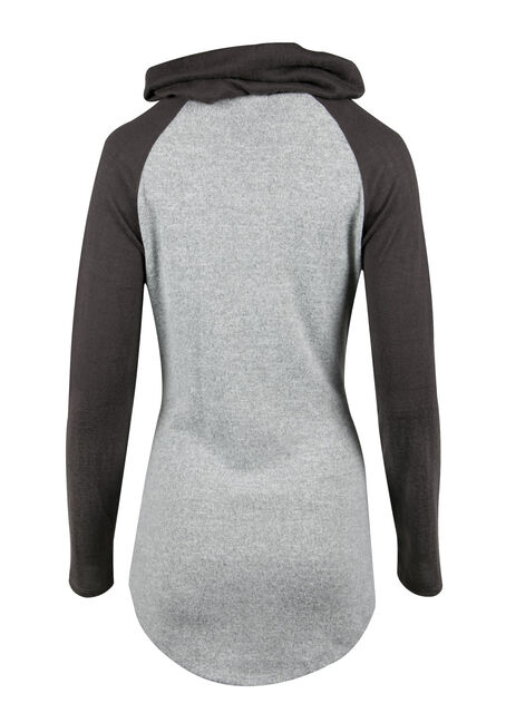 Ladies' Tulip Hem Top, CHARCOAL, hi-res