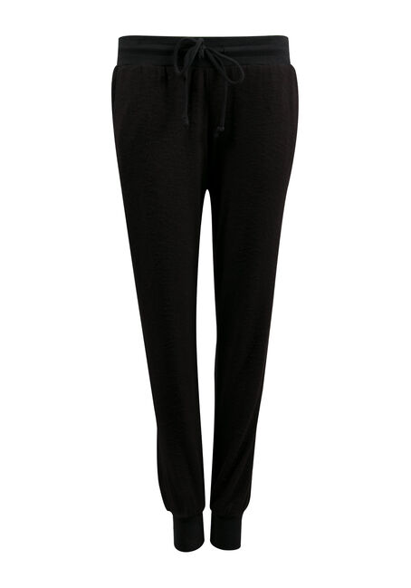Ladies' Super Soft Jogger, BLK/WHT, hi-res