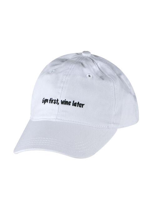 Ladies' Priority Baseball Hat, WHITE, hi-res