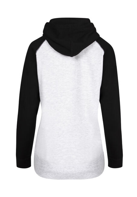 Ladies' Cute But Sassy Hoodie, HEATHER GREY/BLACK, hi-res