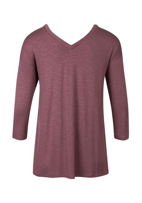 Ladies' Double V-neck Tee, WILD ORCHID, hi-res