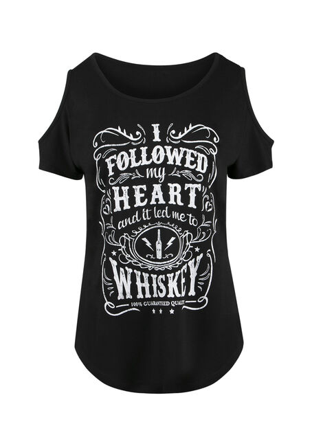 Ladies' Whiskey Cold Shoulder Tee
