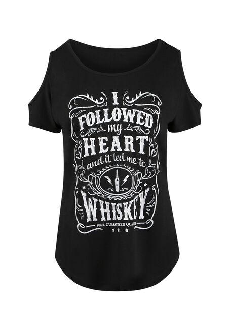 Ladies' Whiskey Cold Shoulder Tee