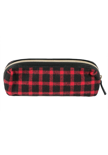Ladies' Zippered Pouch, RED, hi-res