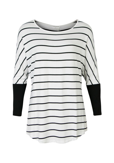 Ladies' Striped Dolman