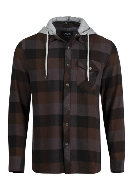Men's Relaxed Hooded Shirt Jacket