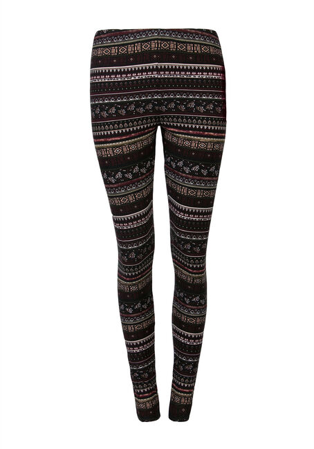 Ladies' Aztec Stripe Legging, MULBERRY, hi-res