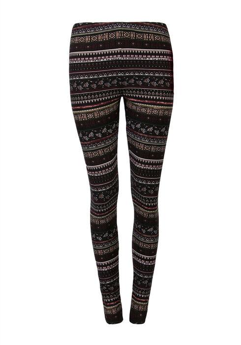 Ladies' Aztec Stripe Legging, MULBERRY, hi-res