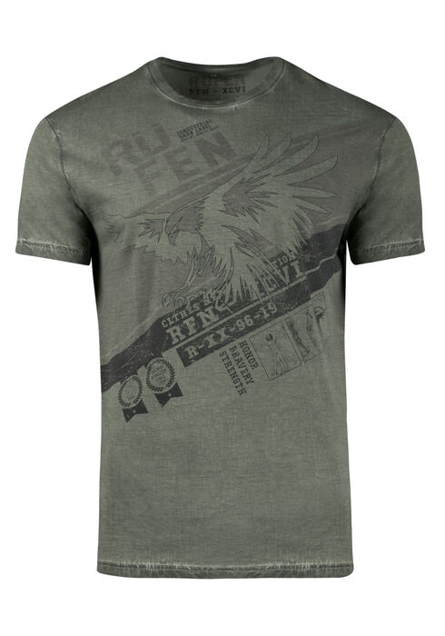 Men's Eagle Graphic Tee, DARK OLIVE, hi-res