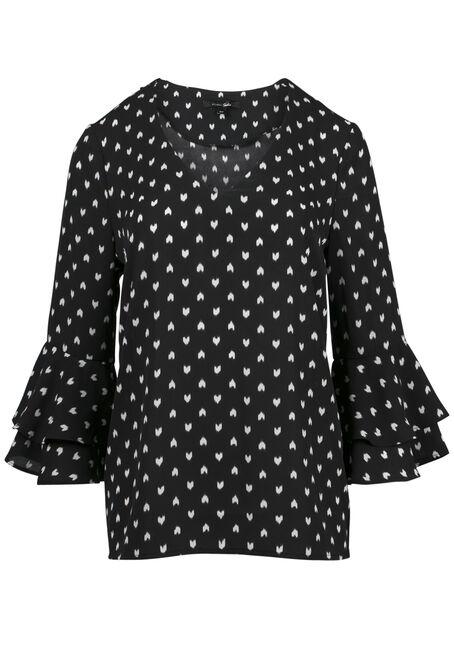 Ladies' Heart Print Blouse