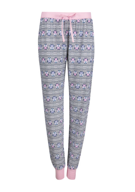 Ladies' Owl Plush Lounge Jogger