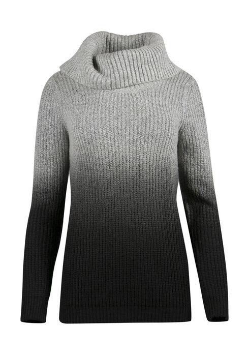 Ladies' Ombre Sweater, IVORY/BLACK, hi-res