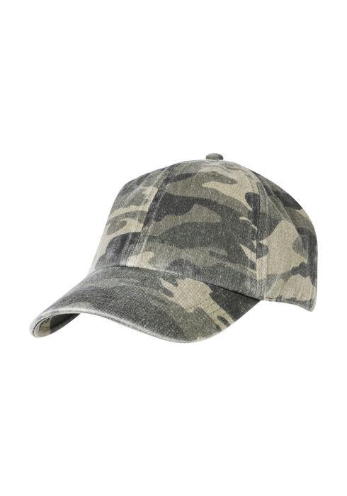 Ladies' Camo Baseball Hat, LIGHT OLIVE, hi-res