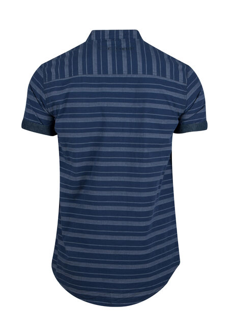 Men's Stripe Shirt, NAVY, hi-res