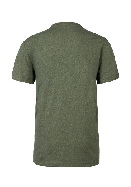 Men's Crew Neck Flecked Tee, DARK OLIVE, hi-res