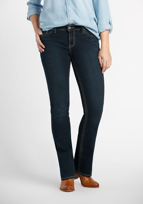Ladies' Contour Boot Dark Jeans, DARK VINTAGE WASH, hi-res