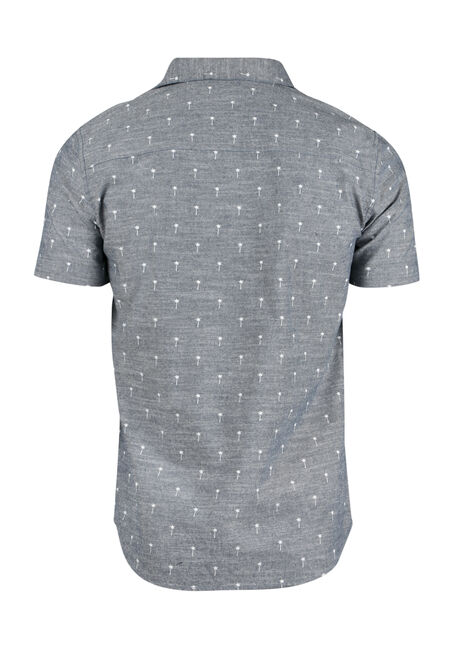 Men's Palm Tree Shirt, BLUE, hi-res