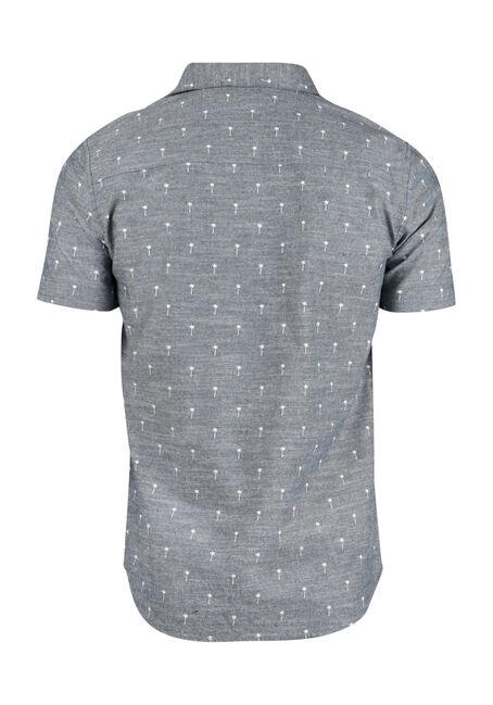 Men's Palm Tree Shirt, BLUE, hi-res