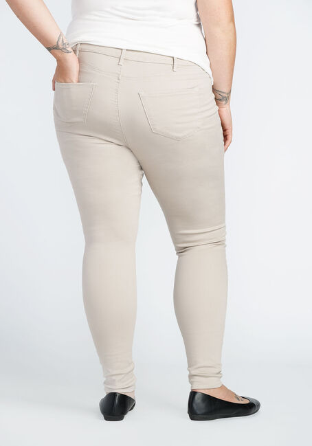 Ladies' Plus Size Skinny Pant, STONE, hi-res