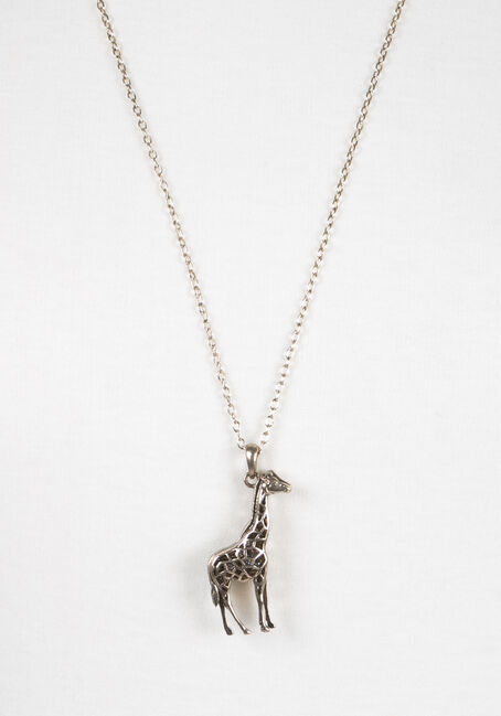 Ladies' Giraffe Pendant, GOLD, hi-res
