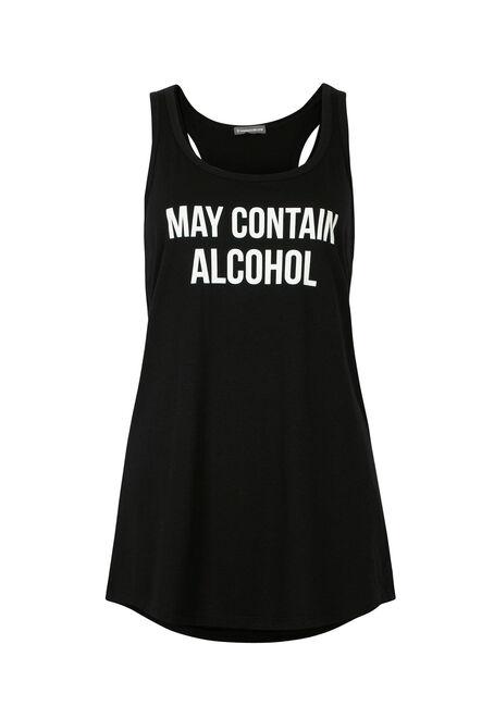 Ladies' May Contain Alcohol Tank, BLACK, hi-res